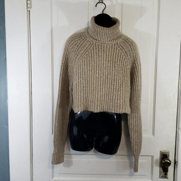 Asos Cropped Turtleneck Sweater
